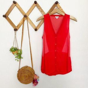 Splendid Red always shirting button tank size S